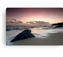 A Relaxing Morning Beach View Canvas Print