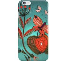 Apple and butterfly. iPhone Case/Skin