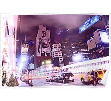 David Beckham on 8th Avenue - New York City Poster