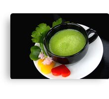 Green Pepper 4 Light Food Pleasure Canvas Print
