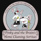 Pinky and the Brain Home Cleaning Distressed by WUVWA