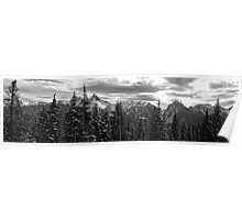 Tatoosh Mountain Range Panorama Poster