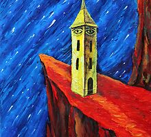 Oil Painting -The Watchtower II. 2012 by Igor Pozdnyakov