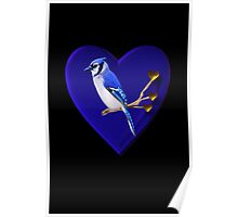 """.♥➷♥•*BLUE JAY """"MY HEART BEATS FOR U"""" .♥➷♥•* Poster"""