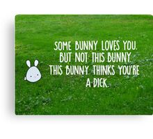 Not This Bunny Canvas Print