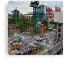 Construction Site, Adelaide Canvas Print