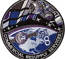 CRS-8 (SpX-8) Mission Logo by Spacestuffplus