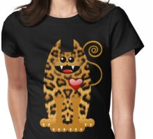 LOVELY LEOPARD Womens Fitted T-Shirt