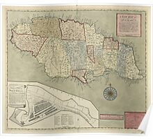 Map of Jamaica (1771) Poster