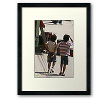 Kids, Ecuador Framed Print