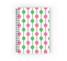 The Droplet Lite - Green & Pink Spiral Notebook
