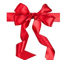 iPHONE RED BOW  by buniquedesignz