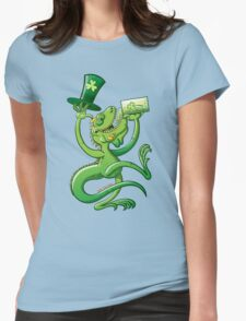 Saint Patrick's Day Iguana Womens Fitted T-Shirt