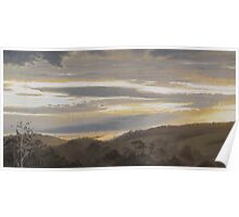 Morning Light (on the Jeeralang hills) Poster