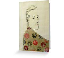 clare in kimono Greeting Card