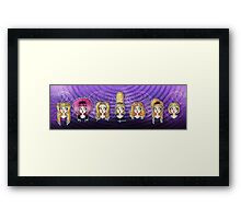 Wig in a Box Framed Print