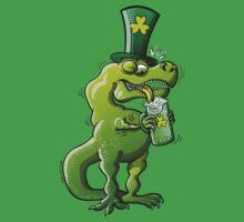 Saint Patrick's Day Tyrannosaurus Rex One Piece - Short Sleeve