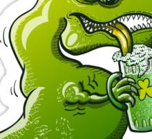 Saint Patrick's Day Tyrannosaurus Rex Sticker