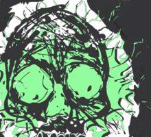 Death's-head flashy green Sticker