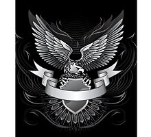 iPHONE SILVER EAGLE by buniquedesignz