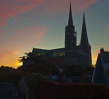Chartres at sunrise - 2 by Michael Brewer
