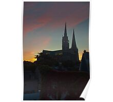 Chartres at sunrise - 2 Poster