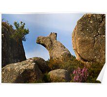 Natural rock formation, Castro Laboreiro, Parque Nacional da Peneda-Geres, Portugal Poster