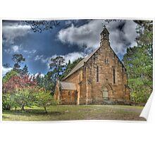 St Francis Xavier Catholic Church, Berrima, NSW, Australia Poster