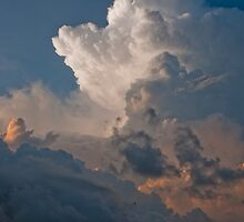 Magnificent cloudscape seen at Seminyak Beach in Bali, Indonesia by Michael Brewer