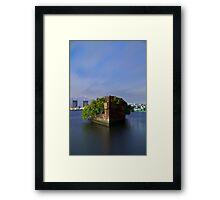 Homebush Bay Shipwreck - Portrait Framed Print