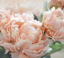Peach Peonies by Lisa Argyropoulos