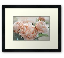 Peach Peonies Framed Print