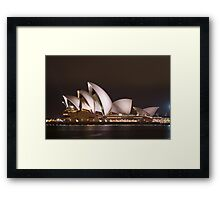 Sydney Opera House at Night Framed Print