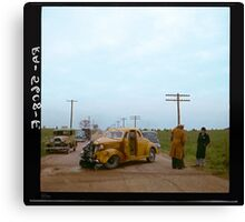 Automobile Accident on the U.S. 40, 1936 Canvas Print