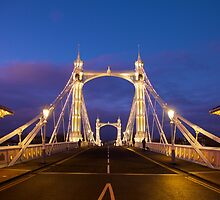 Albert Bridge, London - Straight by Llewellyn Cass