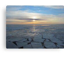 freezing sunrise offshore Canvas Print