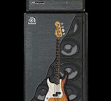 Bass and Amp by Alternative Art Steve