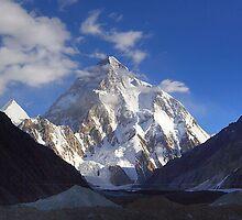 Early Morning Sun on K2, Concordia, Karakorum by fineartphotos