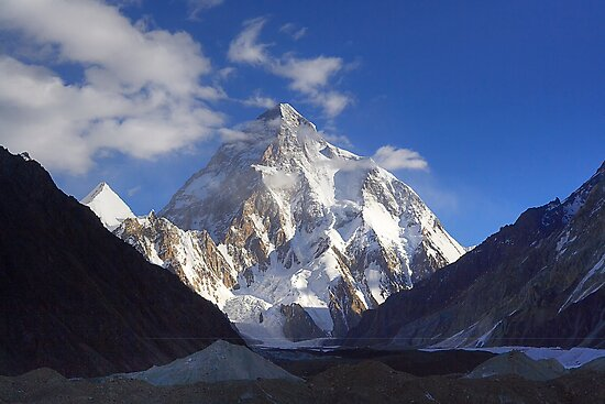 Early Morning Sun on K2, Concordia, Karakorum by fineartphotos