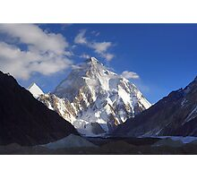 Early Morning Sun on K2, Concordia, Karakorum Photographic Print