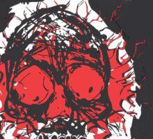 Death's-head red Sticker