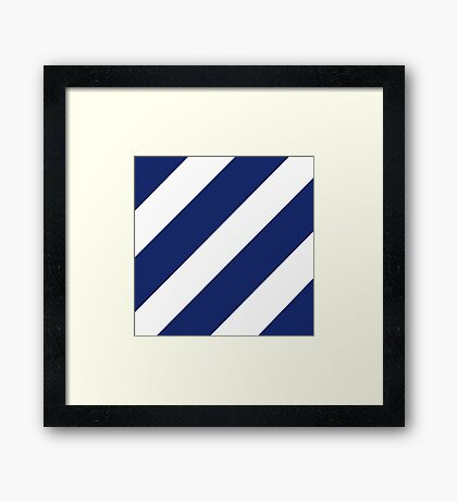 Third Infantry Division (3ID) Insignia Framed Print