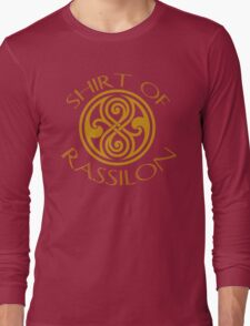 shirt of rassilon -gold Long Sleeve T-Shirt