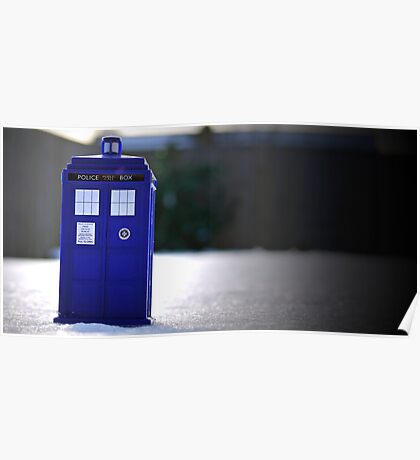 TARDIS in the snow. Poster