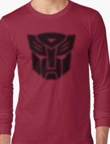 Halftone Autobot Symbol, Black Long Sleeve T-Shirt