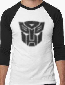 Halftone Autobot Symbol, Black Men's Baseball ¾ T-Shirt