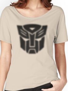 Halftone Autobot Symbol, Black Women's Relaxed Fit T-Shirt