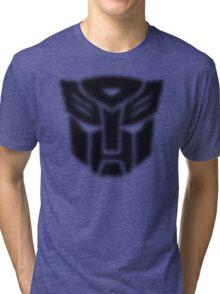 Halftone Autobot Symbol, Black Tri-blend T-Shirt