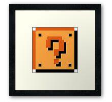 Question Brick Framed Print