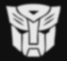 Halftone Autobot Symbol, White by WUVWA